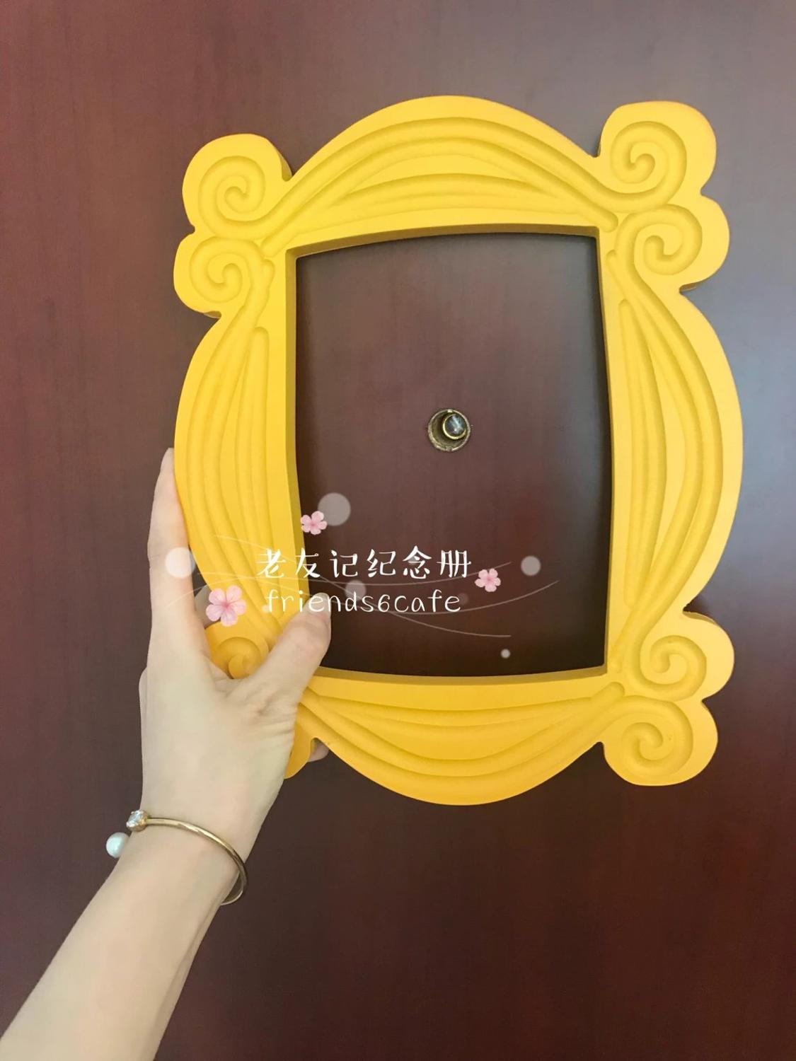 New Friends Frame TV Show Monica Photo Frame Door Yellow Very Good Finish Loveful