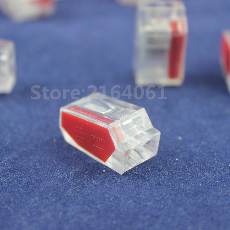 20pcs  273 252  Push Wire Connector For Junction Box 2 Pin