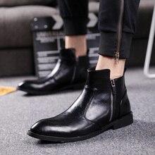 النمط البريطاني الرجال موضة فستان الحفلات ملهى ليلي حقيقية أحذية من الجلد أشار تو أكسفورد حذاء ربيع الخريف تشيلسي حذاء من الجلد