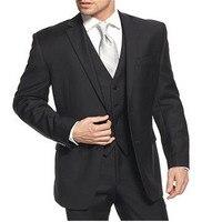 Abito da sposa su misura di coltiva la sua moralità moda sposo uomo d'affari vestiti giacca da uomo, coat + pants + vest, tie)