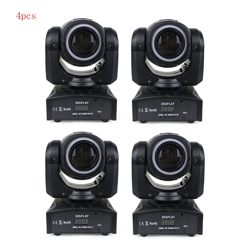 4pcs/8pcs/10pcs 30W Mini Moving Head LED Spot Light with RGB 3in1 strips dmx 512 stage lighting for DJ party club Made in China 6pcs lot white color 132w sharpy osram 2r beam moving head dj lighting dmx 512 stage light for party