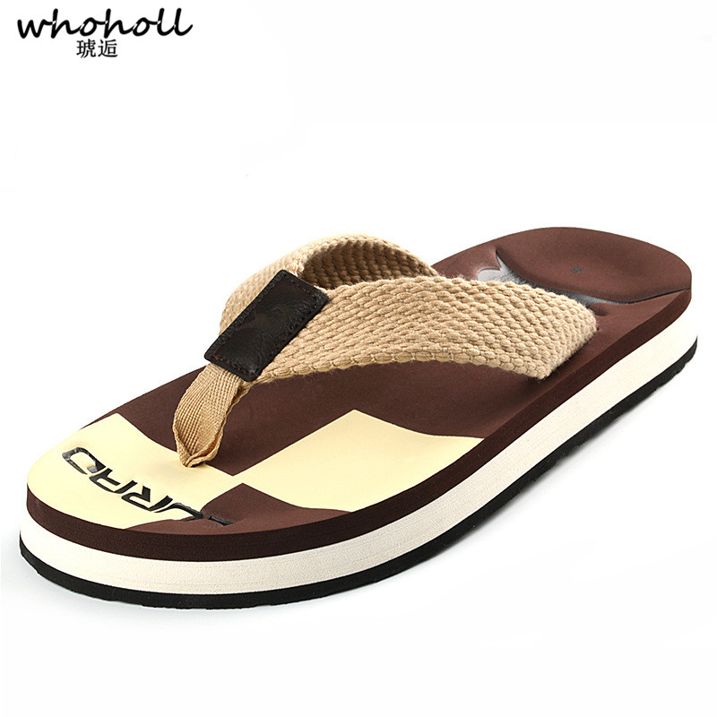 WHOHOLL Summer Beach Slippers Man Slides Bathroom Unisex Non-Slip Flat Casual EVA Summer Slippers Indoor Flip Flops Man Shoes