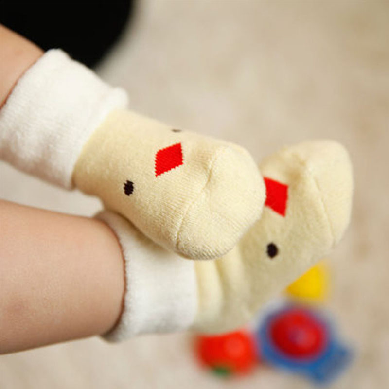 DreamShining Winter Warm Baby Socks Anti Slip Newborn Sock 0-3 Years Soft Cotton Sock Cute Cartoon Boy Girl Socks Accessories