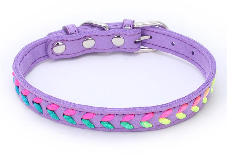 Collier tendance Coloré Chat, chaton et chien violet