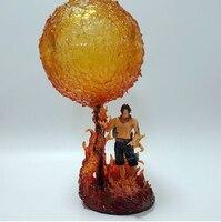 One Piece RESIN GK Figure Ace Model Fire Fist Mera Mera no Mi Portgas D Ace Resin GK DIY Model Figure UNA PIEZA