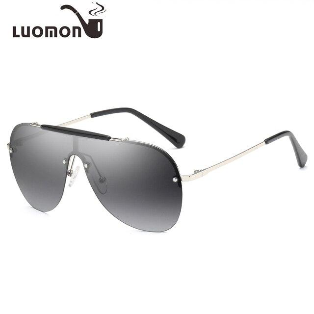 3734972b718 LUOMON Square Shield Sunglasses Men Vintage Brand Designer Women Polarized  HD Lens Glasses Male Sun Glasses UV400