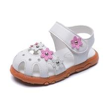 COZULMA New 2019 Summer Kids Shoes Girls Sandals Children Beach Baby Princess Roman Style Flower Shoe