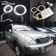 HochiTech белый 6000K CCFL головной светильник Halo Angel Demon Eyes Kit светильник angel eyes для Ssangyong Rexton 2003 2004 2005