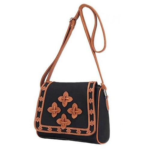 5x  Women Ladies Leather Shoulder Bag Tote Purse Messenger Crossbody Handbag Black women ladies leather shoulder bag tote purse handbag messenger crossbody satchel