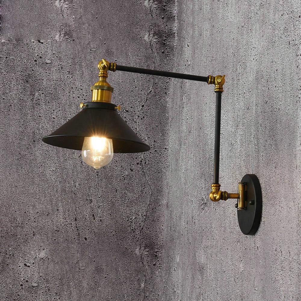 Vintage Industrial Adjustable Swing Arm Light Sconce Wall Lamp Light Fixture E27
