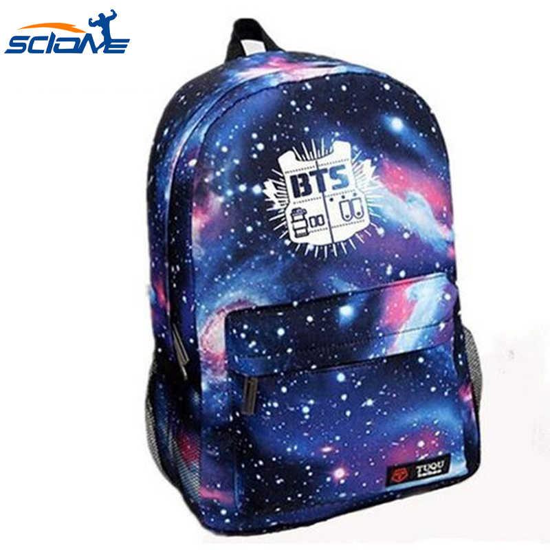 Scione Sports Galaxy Backpacks Nylon BTS Printing School Shoulder Bags  Fashion Boy&Girls High Quality Waterproof Travel
