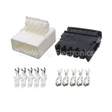 5 контактный автомобильный разъем из белой пластмассы Φ/21 с