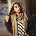 2016 New Designer Winter Women Scarf Wool Warm Bufandas Long Hooded Cashmere Scarves Cachecol Feminino Women Scarf with Hat
