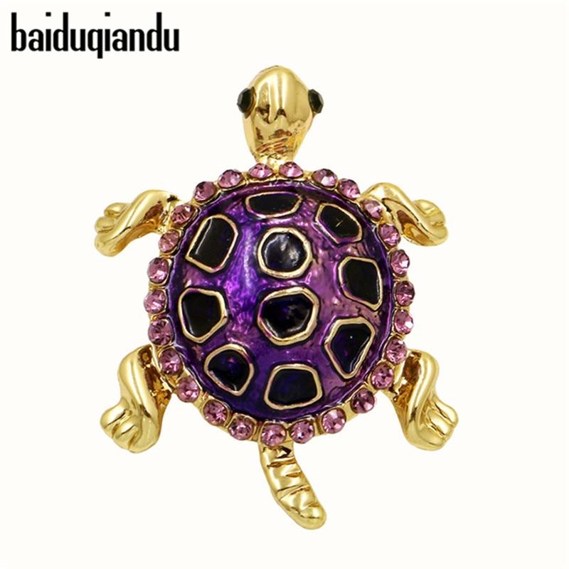 baiduqiandu Brand Cute and Vivid Enameled Small Tortoise Little Turtle Brooches