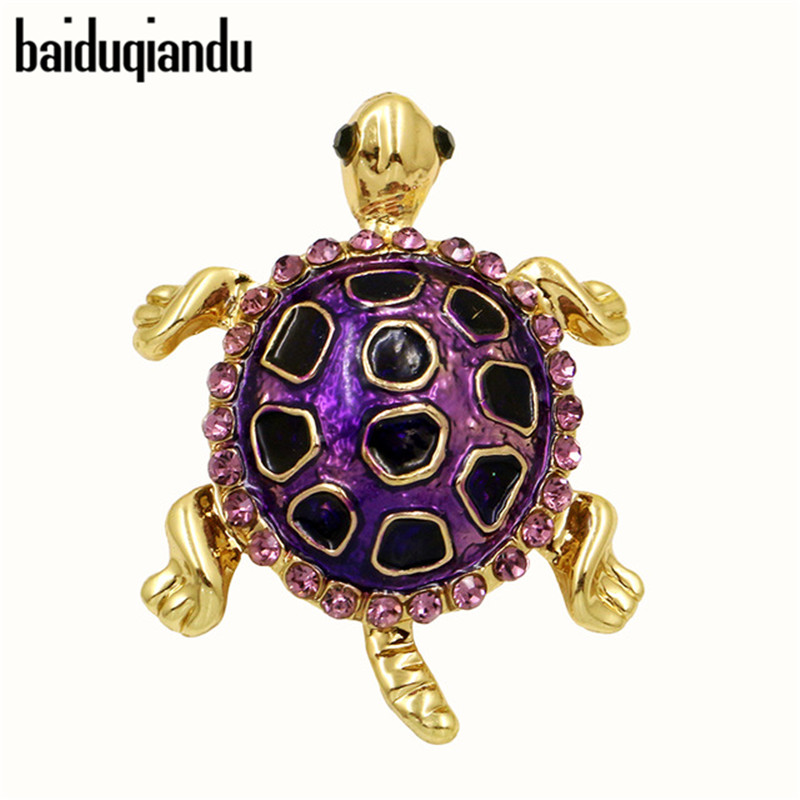 baiduqiandu 브랜드 귀엽고 생생한 에나멜 작은 거북이 작은 거북이 브로치