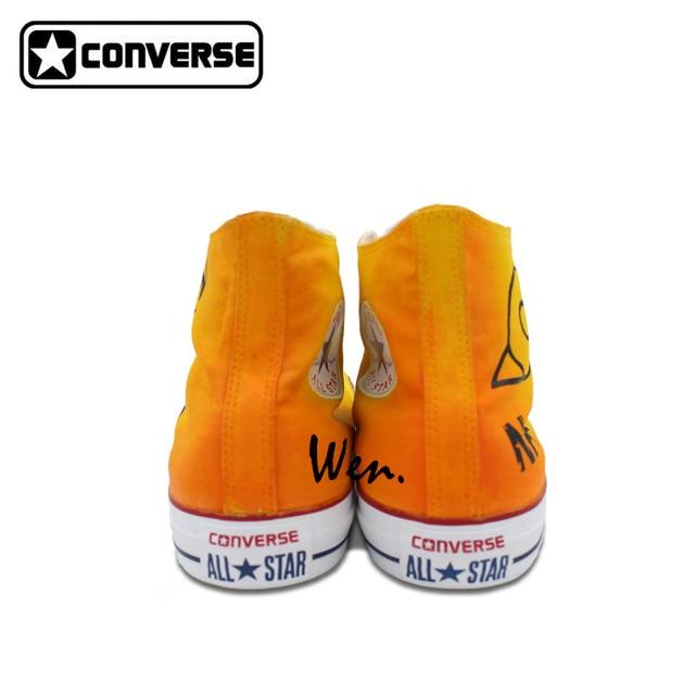 Anime Uzumaki Converse Hand-Painted Sneakers