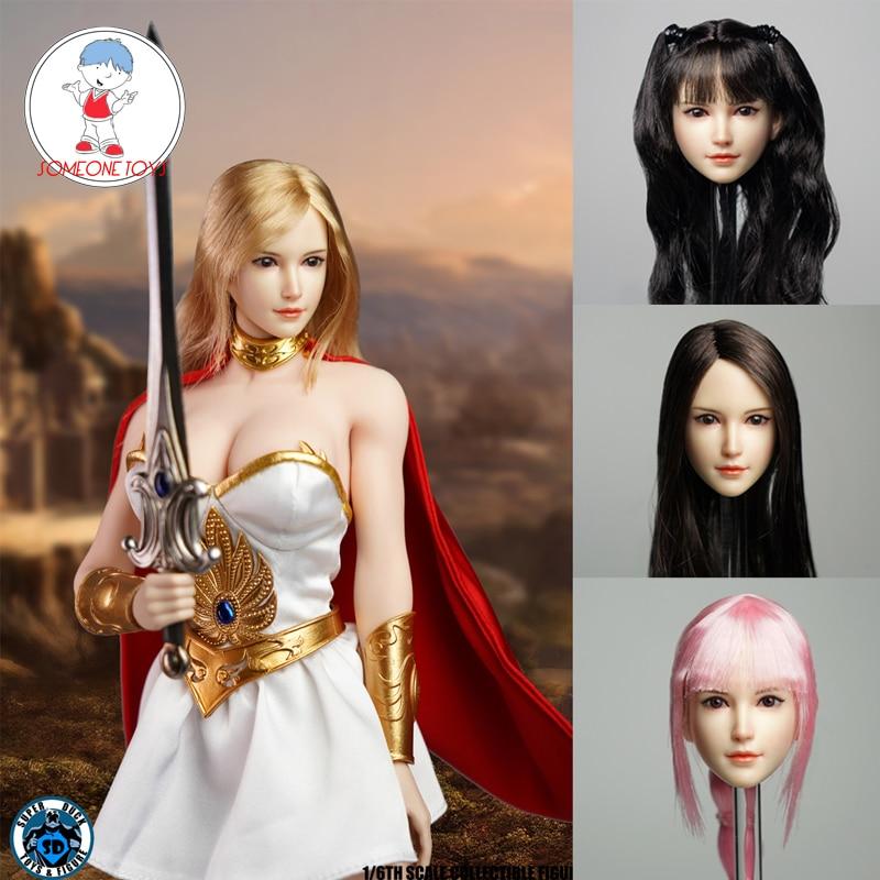 1//6 scale American Female Head sculpt B for 12/'/' Female Figure Doll Phicen