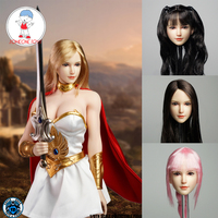 1/6 Scale Asian Girl Head Sculpt Female Soldier Head Carved Model For Female Phicen JIAODOL Body Figure Dolls Collection