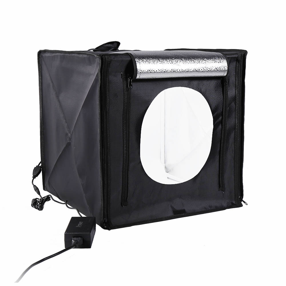 Light Box Photo Studio 40 x 40cm CRI95 Professional Table Photography Shooting Tent with 2 LED Light for DSLR Camera Smart Phone(China)