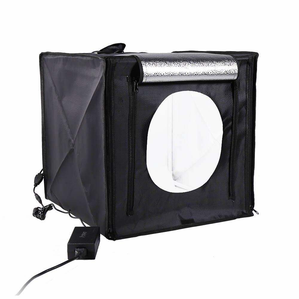 Caisson lumineux Photo Studio 40x40 cm CRI95 professionnel tableau photographie tente de tir avec 2 lumière LED pour appareil Photo reflex numérique smartphone