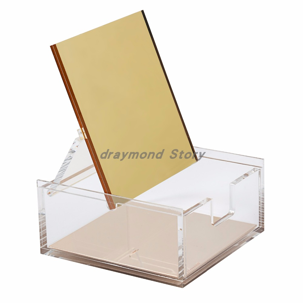 Hot Offer #3997 Gold Acrylic Gold Mirror Box And Stapler