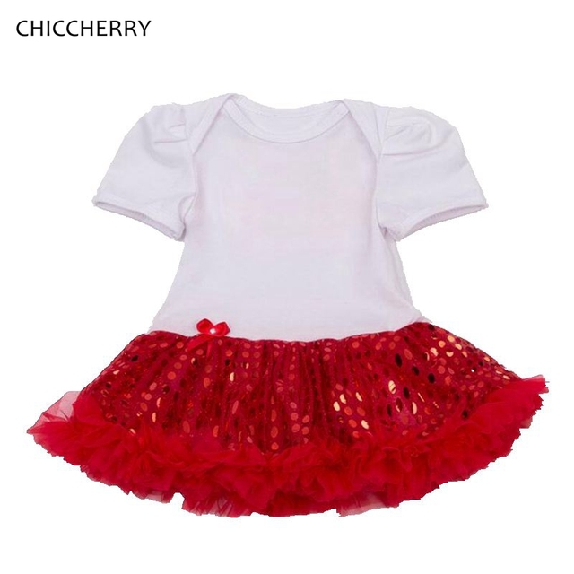 Summer White Newborn Baby Girl Clothes Sequins Infant Lace Tutu Dress Vestido De Bebe Toddler Happy Birthday Day Outfits