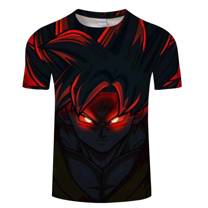 Summer short-sleeve printed men t shirt , 3d printed dragon ball T-shirt, animation tshirt s-6xl