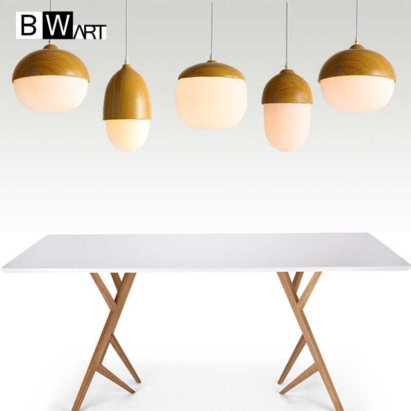 BWART Contemporary art Wood Pendant Lights Dining Room Pendant Lamps Japan Style LED Restaurant Coffee Bedroom Lighting a1 master bedroom living room lamp crystal pendant lights dining room lamp european style dual use fashion pendant lamps
