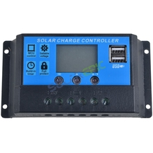 цена на 10A Solar Charge Controller PWM 12V/24VDC AUTO Battery Regulator With LCD Display Solar Panel Charger USB 5V Output