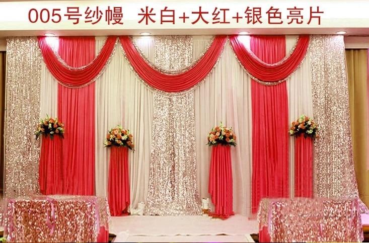 Free Shipping 3x6M 1 SET Wedding Background Backdrops Sequin Photo Backdrop Wedding Booth Photography Background