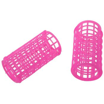 10 Pcs Hair Salon Curlers Rollers Pink Soft Large DIY Hairdressing Curling Tools Plastic