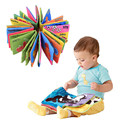 High Quality 10*9CM Kid Baby Intelligence Development Cloth Book Bedding Reading Cognize Book Educational Toy WA734 P15 0.5
