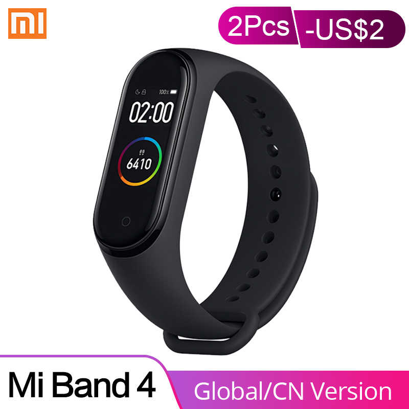 In Stock Xiaomi Mi Band 4 Smart Bracelet AMOLED Touch Screen Bluetooth 5.0 5ATM Waterproof 6-axis Sensor Sports Smartwatch