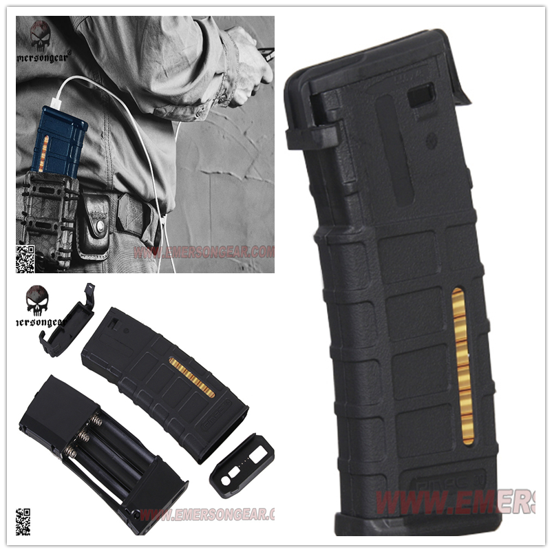 Emersongear Pmac Magzine Style Powerbank Case Intelligent Portable NO Battery Tactical outdoor sports Hunting Party Supplies