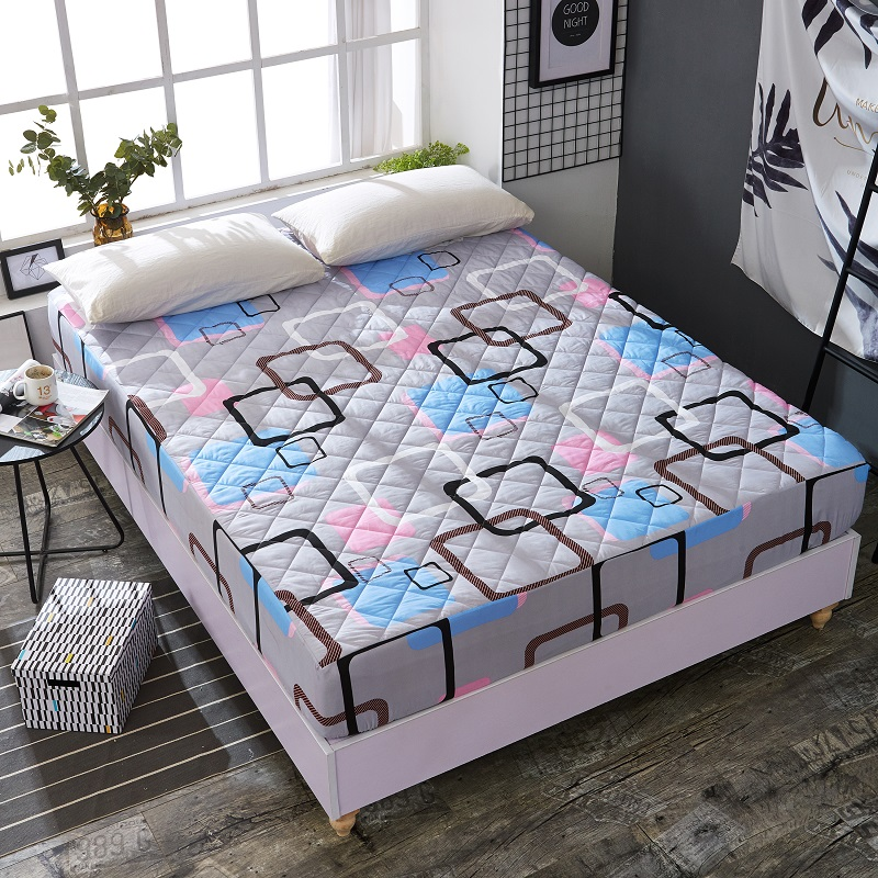 Bed cover Thickened bedspread Thicken quilted skid  bed covers queen cotton