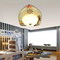 Children S Room Lights Modern Minimalist Boys And Girls Cartoon Creative LED Ceiling Lamp Mediterranean Eye