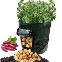 Bolsa de contenedor para cultivo de patatas  jardinera DIY  trapo PE para plantar verduras  jardinería  maceta gruesa  bolsa para cultivo de plantas  herramienta de jardín|Bolsas de cultivo| |  -