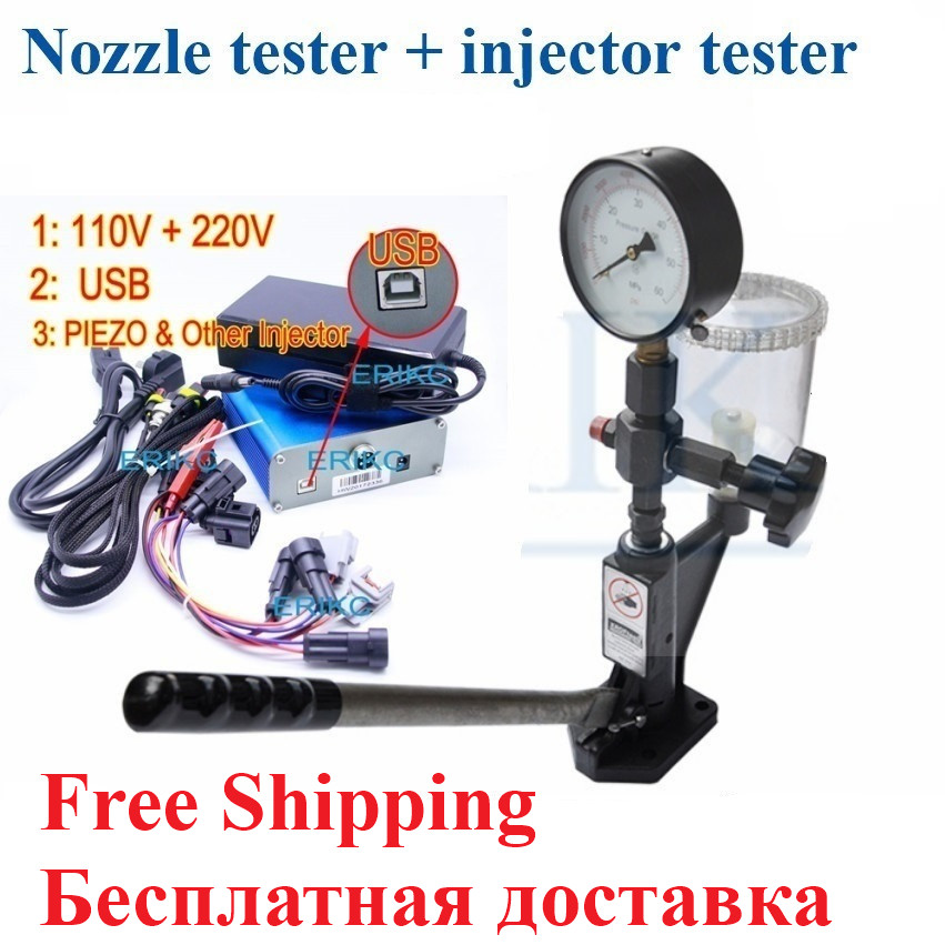 ERIKC Protable CRI800 Injector Tester Tool S60H Fuel Injector Nozzle Tester Validator Electromagnetic Piezo Common Rail