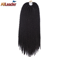 AliLeader 1-10 Packs Full Head Faux Locs Crochet Braids Kanekalon Synthetic Hair 12 18 Inches #1B/1/2/27/30 Burgundy Available