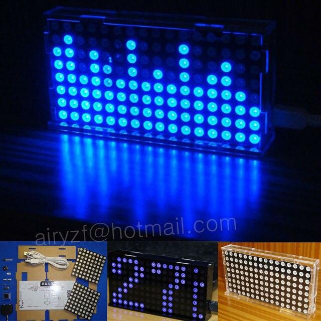DIY kit LS1608 music spectrum display production suite diy music sit LED dot matrix 51 MCU