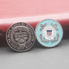 USCG Gold Plated Coin Army Commemorative Medals United States Coast Guard Reserve Security Detachment Challenge Coin collect surreal detachment