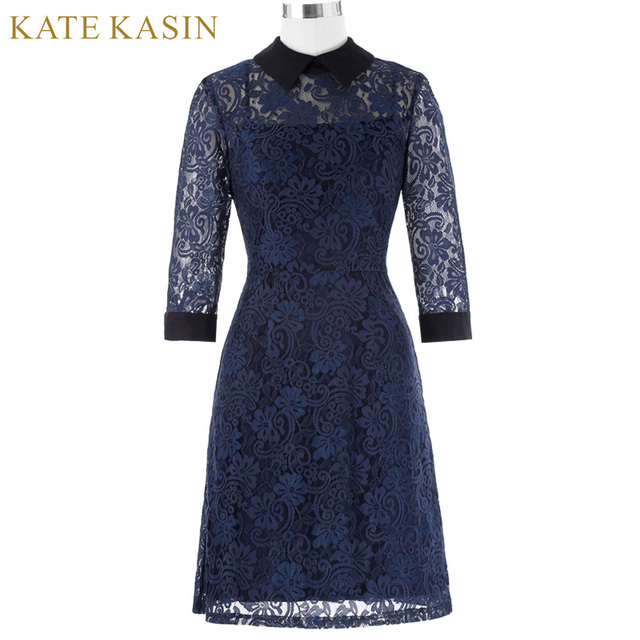 3c98805fca4f Good Quality Kate Kasin Women Spring 3 4 Sleeve Point Collar Open Back Sexy  Robe