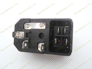 Image 4 - Free Shipping 10pcs switch socket with light Red,AC power socket Plug 4Pin 10A 250V with Fuse Block + 10A Fuse