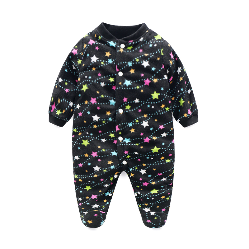 ecf71607c Fashion Baby Boy Clothes Girl Jumpsuits Cartoon Baby Rompers Clothes Fleece Newborn  Unisex Next Body Baby Sleepers Infant Romper-in Rompers from Mother ...