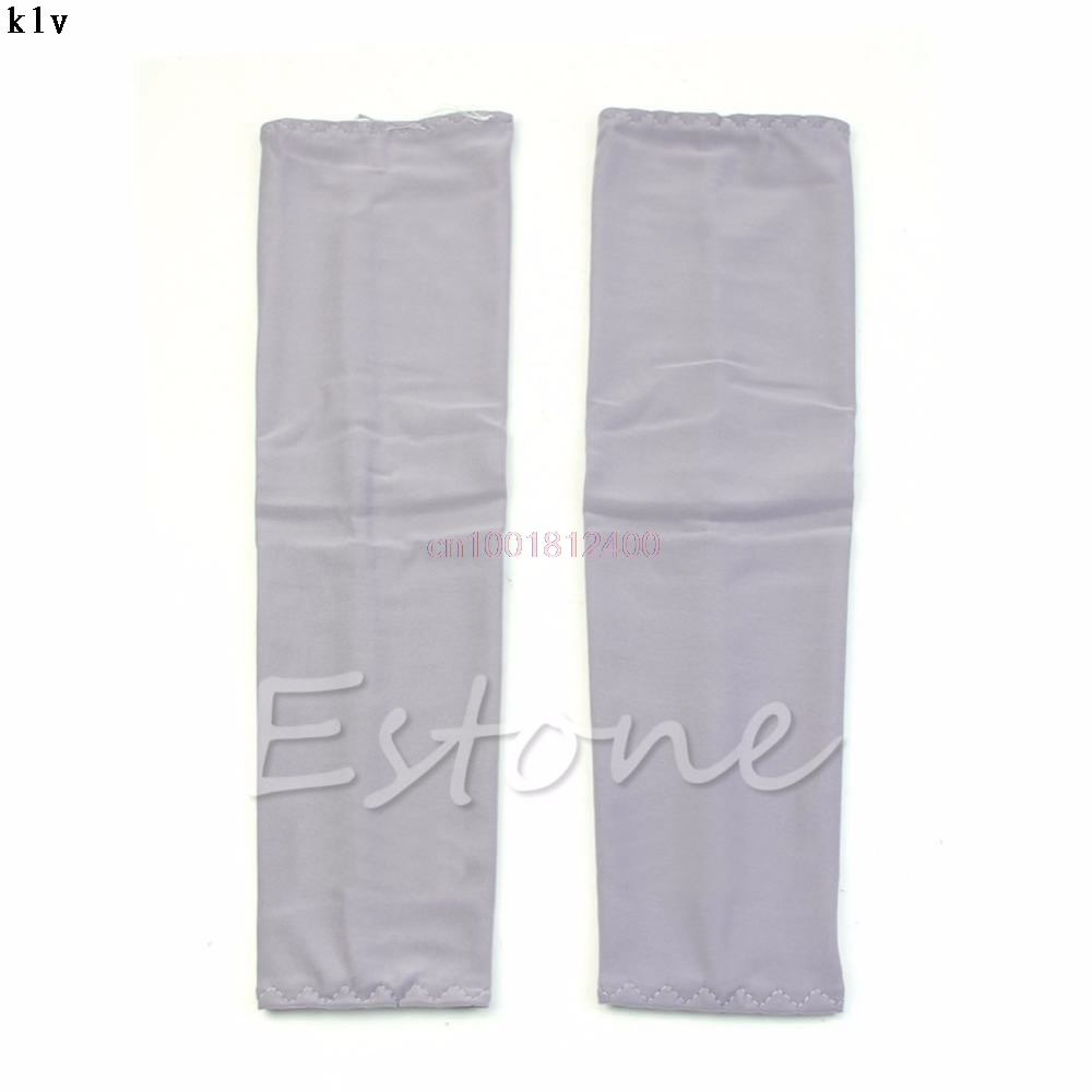 1Pair Arm Sleeves Sun UV Block Arm Sleeves Cool Warmer Cover Cycling Fishing Climbing