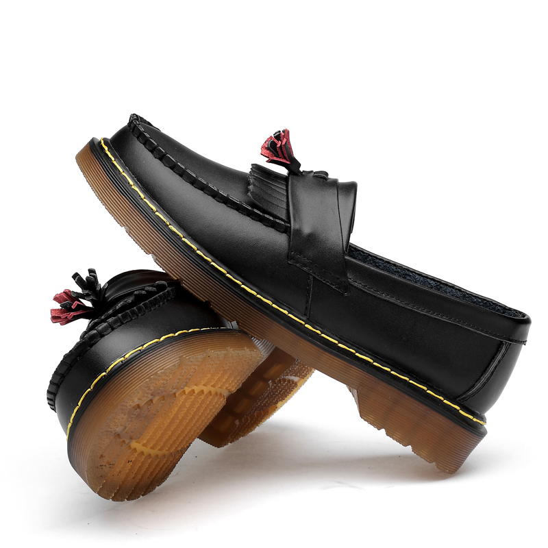 Men 39 s Genuine Leather Shoes Martin Shoes Oxfords Women Unisex Couple Size 35 44 Loafers British Man Dress Sneakers in Men 39 s Casual Shoes from Shoes
