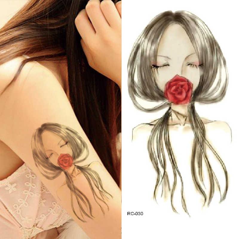 1PC 16 ประเภท 3D Art รอยสักชั่วคราวกันน้ำรูปแบบ Body สติกเกอร์แฟลชสำหรับผู้หญิง Transferable ปลอม TATTOO