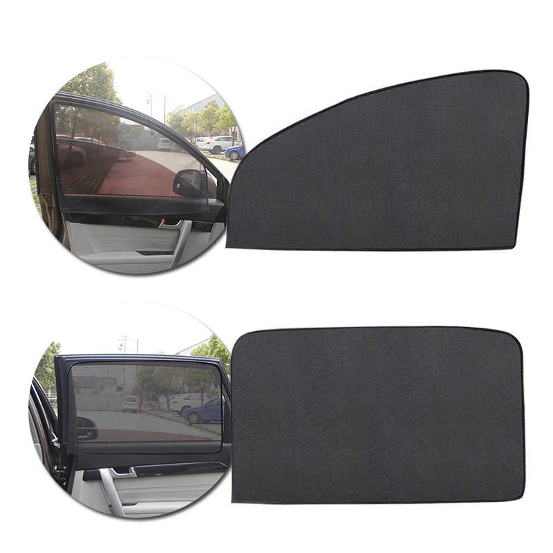Car Interior Sun Shade UV Protection Side Mesh Sunvisor Summer Protective Window Film Magnetic Side Window Curtain Sunshade