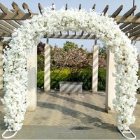Upscale Wedding Centerpieces Metal Wedding Arch Door Hanging Garland Flower Stands with Cherry blossoms For Festival Supplies