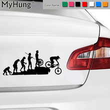 22.8*9.5CM Interesting Evolution Sticker Bike Mountain Downhill Cartoon Car Stickers Personalized Vinyl Reflective Window Decals